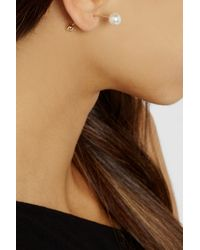 Sophie Bille Brahe - White Elipse 14karat Gold Pearl Bar Earring - Lyst