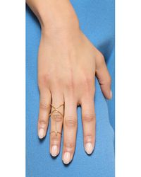 Gorjana - Metallic Criscross Midi Connector Ring - Gold - Lyst