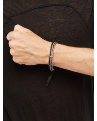 Goti Black Leather Bracelet for men