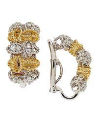 Roberto Coin - Metallic Two-tone Barocco Diamond Earrings - Lyst
