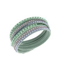 Swarovski - Green Slake Crystal Mint Wrap Bracelet - Lyst