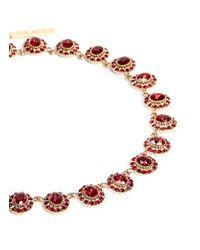 Givenchy | Red Oval Station Swarovski Crystal Choker Necklace | Lyst