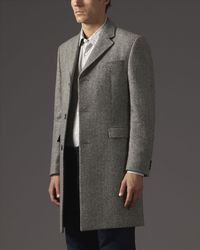 Jaeger - Gray Wool Salt And Pepper Coat for Men - Lyst
