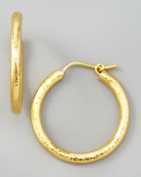 Elizabeth Locke | Metallic Giant Hammered 19K Gold Hoop Earrings | Lyst