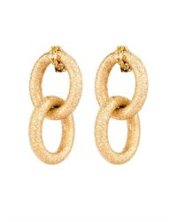 Carolina Bucci | Yellow-Gold Sparkly Double-Link Earrings | Lyst