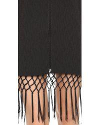 Endless Rose - Black Lace High Neck Mini Dress - Lyst