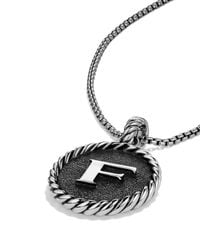 David Yurman | Metallic Cable Collectibles Initial Charm | Lyst