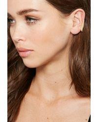 Forever 21 - Metallic Makko Diamond Cuff Earrings - Lyst