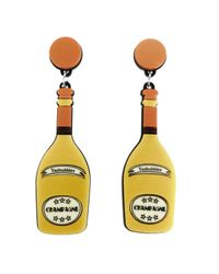Yazbukey | Metallic Champagne Earrings | Lyst