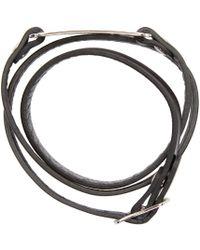 McQ | Black Razor Charm Bracelet | Lyst