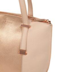 Ted Baker - Pink Metallic Panel Shopper - Lyst