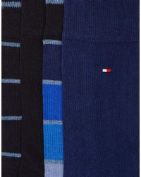 Tommy Hilfiger - Blue 4 Pack Socks In Gift Box for Men - Lyst