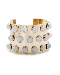 Lele Sadoughi | Metallic Spotted Cuff, Moonstone | Lyst