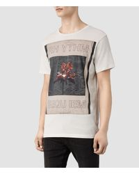 AllSaints - White Rhythm Crew T-Shirt for Men - Lyst