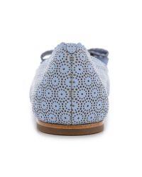 Ferragamo - Blue Varina Lace Ballet Flats - Fleur Bleue - Lyst