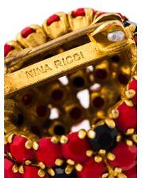 Nina Ricci | Metallic Floral Brooch | Lyst