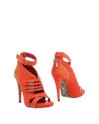 Cesare Paciotti - Orange Ankle Boots - Lyst