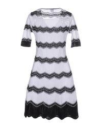 M Missoni - White Ripple Fan-stitch Dress - Lyst