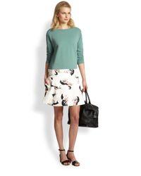See By Chloé Green Fox-Print Sweatshirt Dress