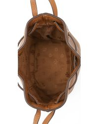 Tory Burch - Brown Brody Mini Bucket Bag - Bark - Lyst