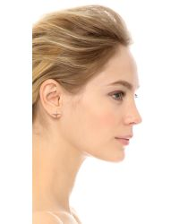Elizabeth and James | Metallic Kara Stud Earrings Yellow Gold | Lyst