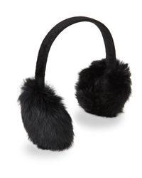 Surell | Black Real Rabbit Fur Earmuffs | Lyst