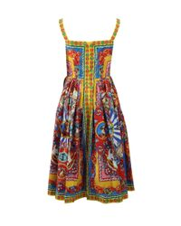 Dolce & Gabbana | Multicolor Printed Caretto Dress | Lyst