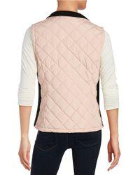 Calvin Klein | Pink Quilted Puff Vest | Lyst