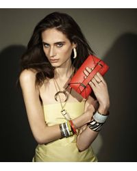 Rachael Ruddick   Metallic Leather Inlay Bangle   Lyst