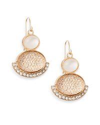 Carol Dauplaise | Metallic Double-oval Pavé-edge Earrings | Lyst