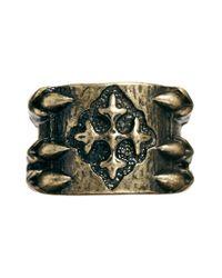 ASOS - Metallic Dragon Claw Ring for Men - Lyst
