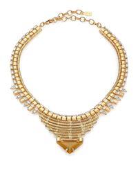 DANNIJO - Metallic Ezra Crystal Collar Necklace - Lyst