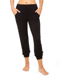 Kensie | Black Banded Bottom Capris | Lyst