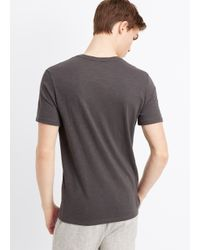 VINCE | Gray Favorite Slub V-neck Tee for Men | Lyst