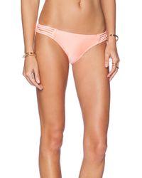 Seafolly | Pink Shimmer Hipster Bikini Bottom | Lyst