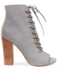 Steve Madden - Gray Women's Freemee Lace-up Shooties - Lyst