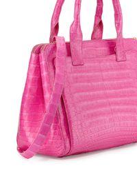 Nancy Gonzalez - Pink Medium Crocodile Tote Bag - Lyst