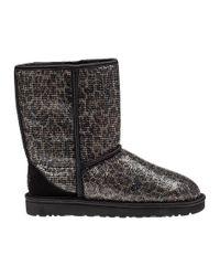UGG | Multicolor Classic Short Glitter Boot Leopard Fabric | Lyst