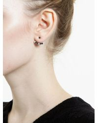 Yvonne Léon | Black Diamond Lobe Earring | Lyst