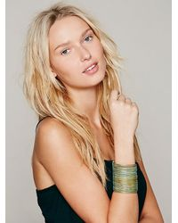 Free People - Blue Sculptor Cuff - Lyst