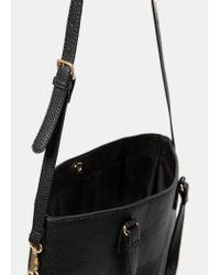 Violeta by Mango | Black Pebbled Shopper Bag | Lyst