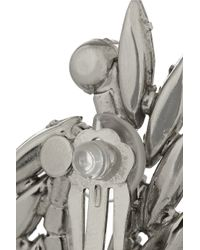 Elizabeth Cole - Metallic Simone Rhodium-Plated Swarovski Crystal Clip Earrings - Lyst