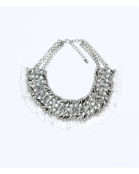 Zara | Metallic Mixed Stone Necklace | Lyst