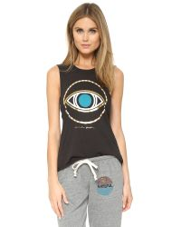 Spiritual Gangster | All Seeing Eye Coachella Tank - Vintage Black | Lyst