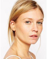 ASOS - Metallic Double Jewel Ear Cuff - Lyst