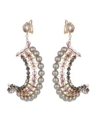 Nadia Minkoff - Multicolor Statement Crescent Earrings Lilac - Lyst