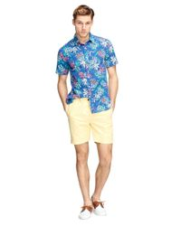 Brooks Brothers - Yellow Canvas Shorts for Men - Lyst