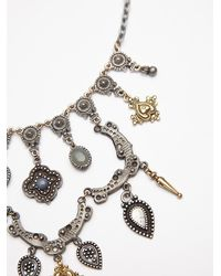 Free People - Metallic Shield Layered Necklace - Lyst