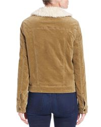 Free People | Brown Sherpa-lined Corduroy Jacket | Lyst