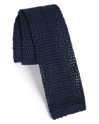 Lanvin | Blue Knit Tie for Men | Lyst